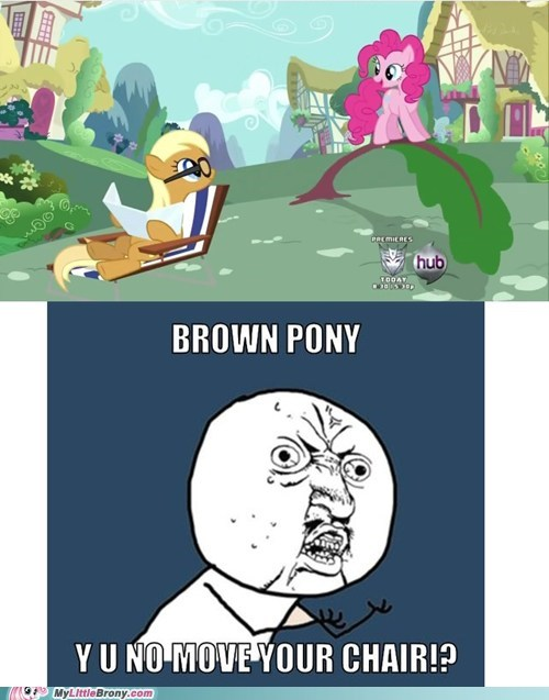 brown pony comics outta her way pinkie pie Y U No Guy - 5865401344