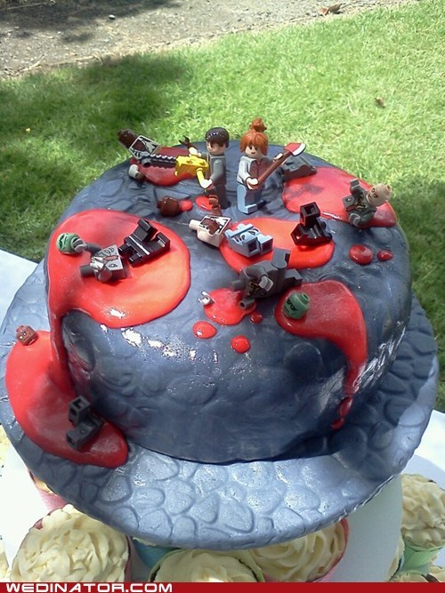 cakes,funny wedding photos,Hall of Fame,lego,legos,wedding cakes,zombie