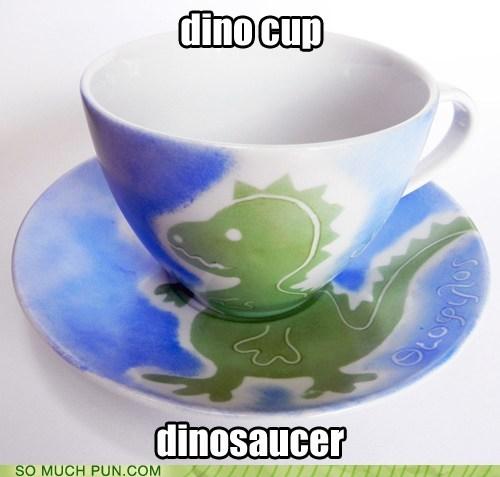 cup,dino,dinosaur,prefix,saucer,similar sounding