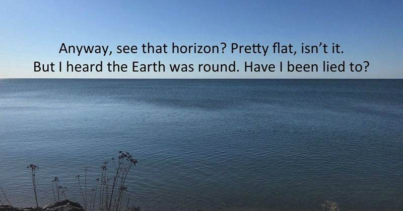 guy debunks flat earth theory