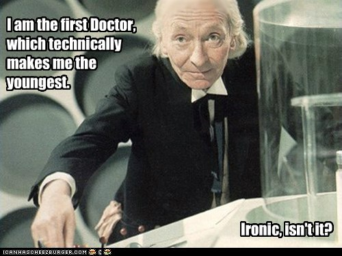 doctor who,first,irony,the doctor,william hartnell,youngest