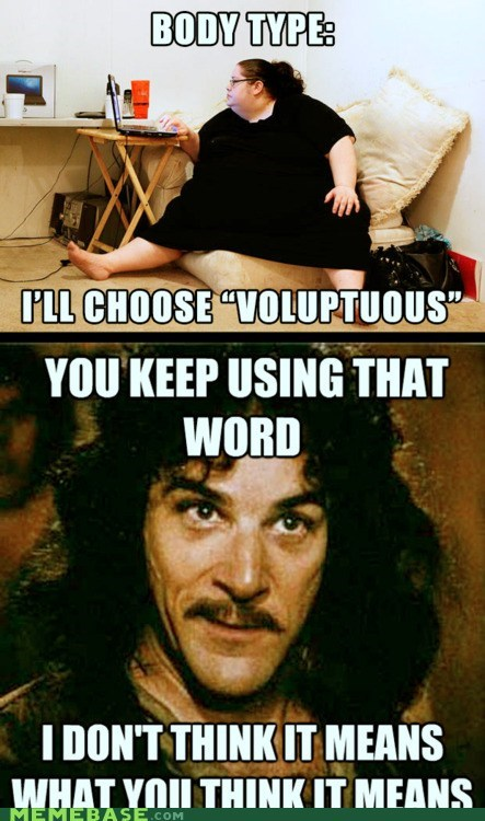 body,dating,fat,inigo montoya,Memes,voluptuous