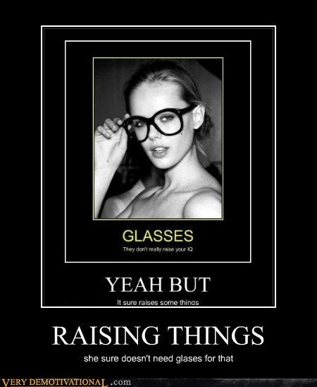 glasses hilarious nerd raising things wtf - 5866441472