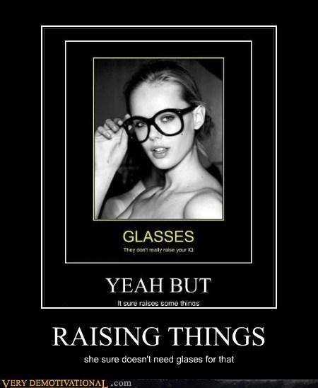 glasses hilarious nerd raising things wtf - 5866441472
