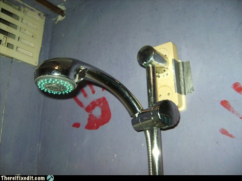 electricity plumbing shower wtf - 5866605312