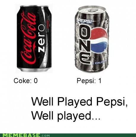 calories coke Memes one pepsi zero - 5866620416