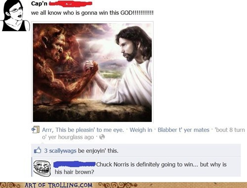 arm wrestling chuck norris facebook jesus - 5866769664