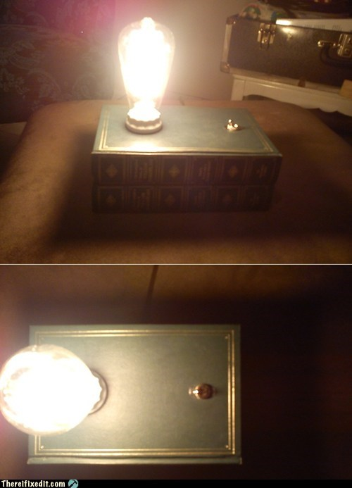 awesome book lamp neat not a kludge user made - 5867922176