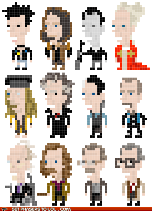 8 bit art characters Gary Oldman Harry Potter representation - 5868145920