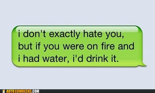 fire hate haters hydration water
