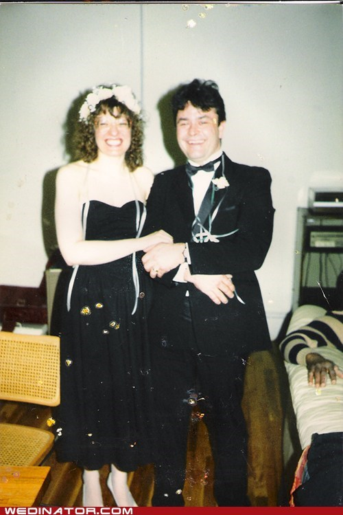 80s,black,bride,funny wedding photos,groom,retro,vintage