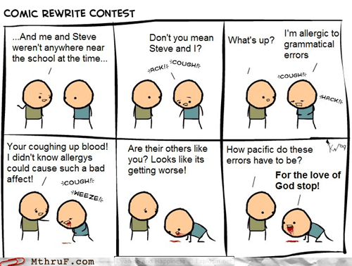 comic cyanide and happiness grammar Hall of Fame monday thru friday