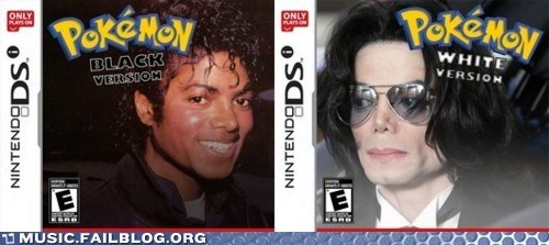 blackendectomy michael jackson Pokémon pokemon black and white - 5868257024