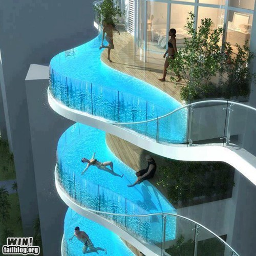 balcony design hotel pool view - 5868279552