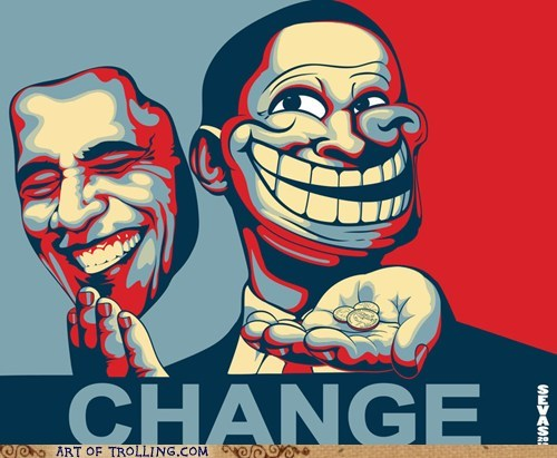 change,obama,troll face