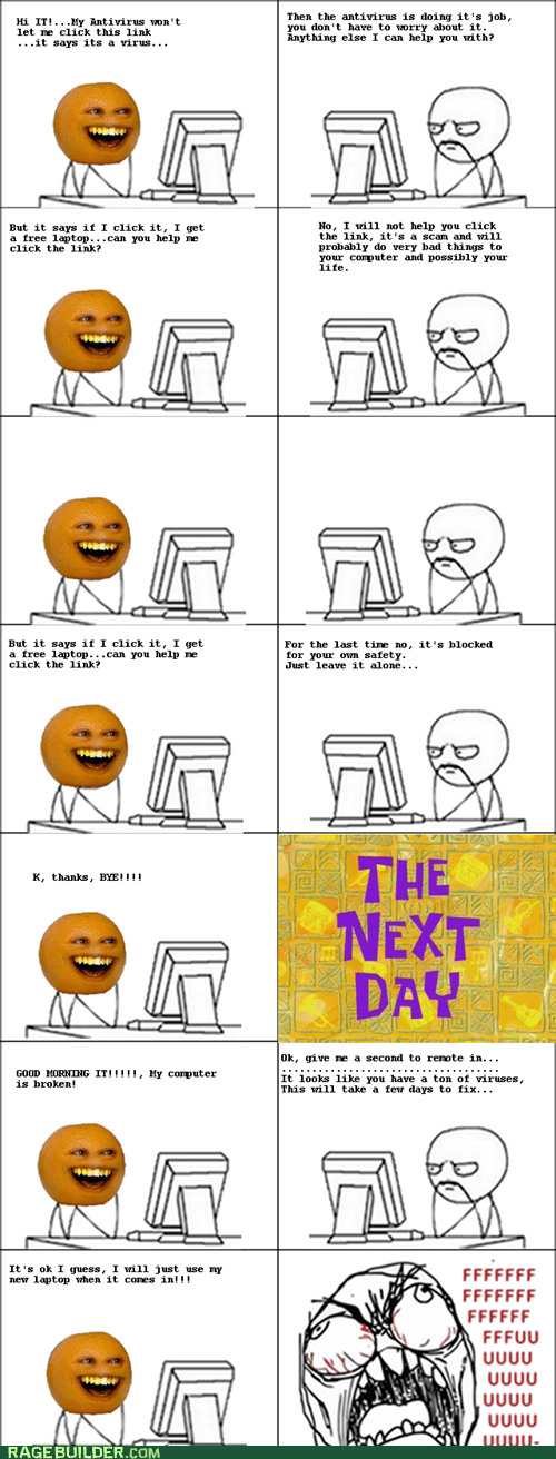annoying orange computers dumb Rage Comics - 5868373248