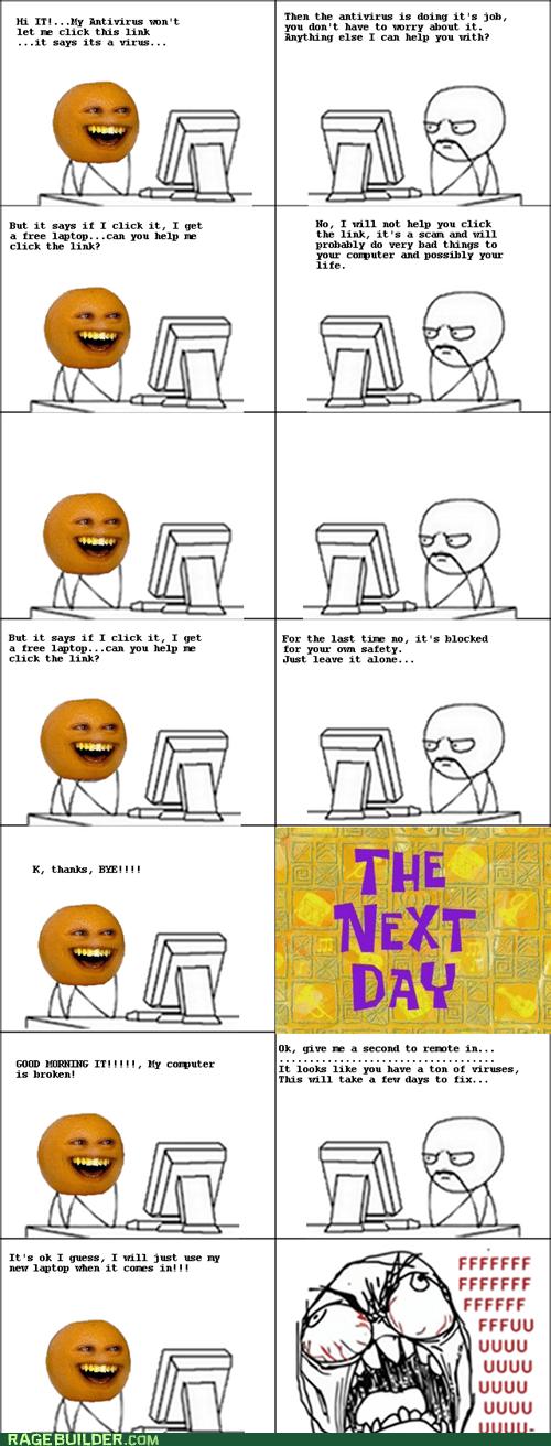 annoying orange computers dumb Rage Comics - 5868373248