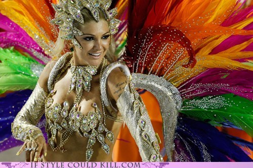 brazil Carnival cool accessories costume feathers - 5868499968