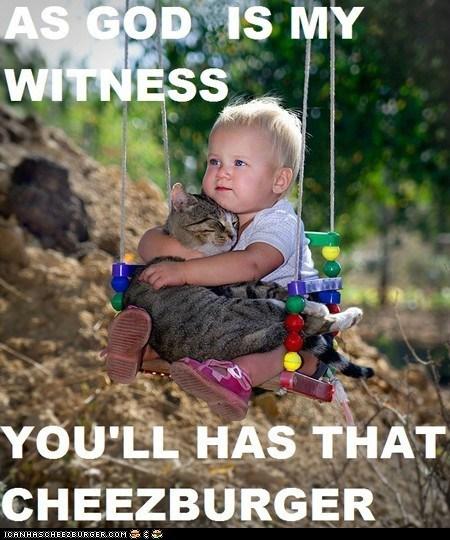 Babies best of the week caption captioned cheezburgers cute hoomins hugging hugs kids sweet swinging swings - 5868506880