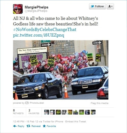 Margie Phelps This Looks Shopped Westboro Baptist Chruch whitney houston