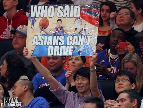 basketball clever Jeremy Lin Linsanity sign sports stereotypes - 5868796672