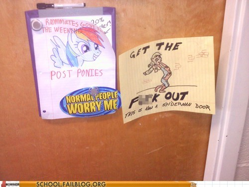 gtfo ponies Spider-Man troll door war - 5868998400