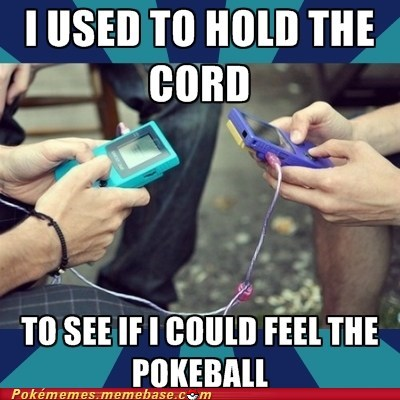 awesome,link cable,Memes,old school,pokeball,trading