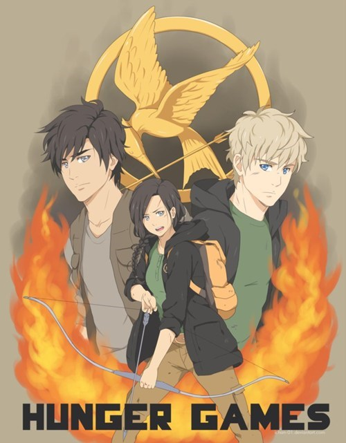 books,Fan Art,katniss,movies,hunger games