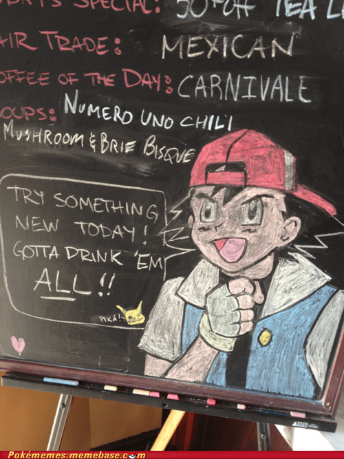 art ash bar chalk drink up IRL pika - 5869114880