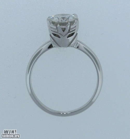 decepticon engagement ring nerdgasm ring transformers wedding - 5869129984