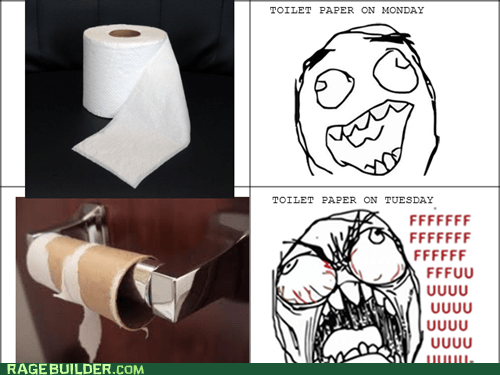 fu guy,Rage Comics,roommates,toilet paper