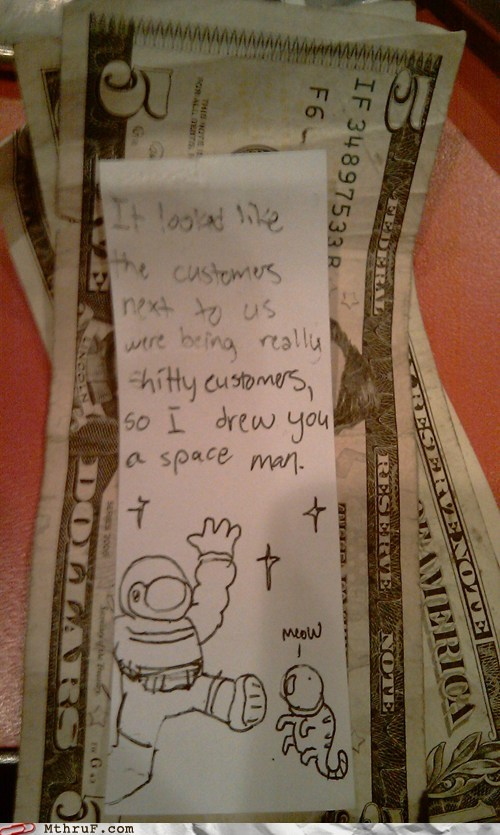 bad customers drew you a spaceman spaceman tipping - 5869448704