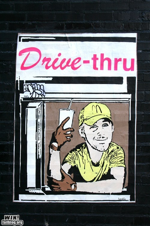 banksy drive graffiti Hanksy Ryan Gosling Street Art - 5869572096