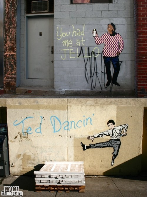 banksy bill cosby celeb hacked irl Hanksy Street Art - 5869577472