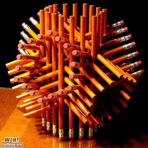 art design geometry math math is fun pencil sculpture - 5869898752