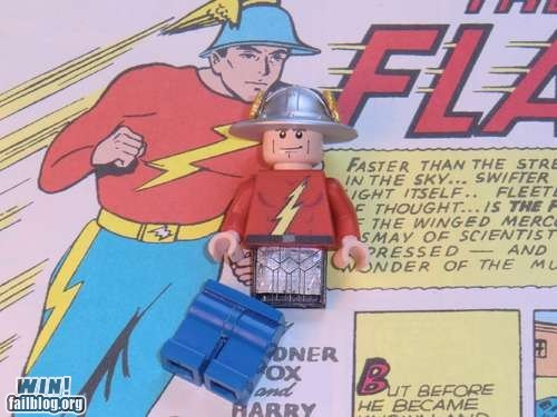 comic books flash flash drive gadget lego nerdgasm super heroes USB - 5869906944