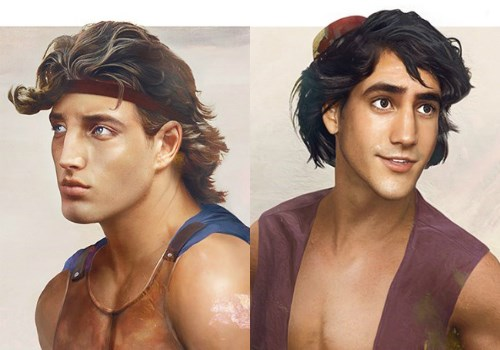 disney art real life hunks - 587013