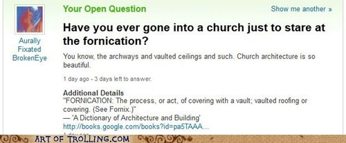 architecture church that sounds naughty Yahoo Answer Fails - 5870197504