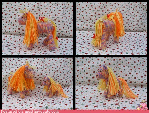 Amigurumi baby Crocheted horse pony yarn - 5871194624