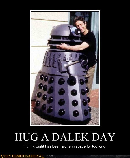 dalek,doctor who,hilarious,hug,wtf