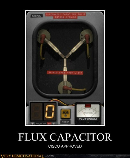 back to the future cisco flux capacitor hilarious