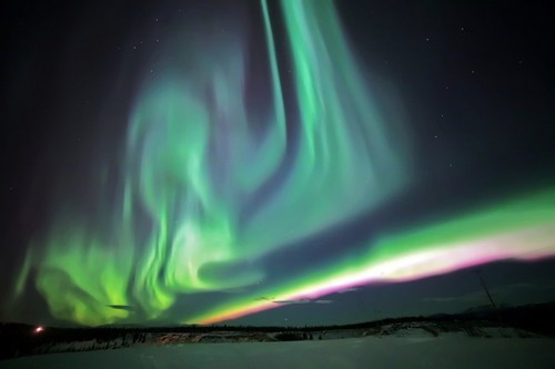 aurora borealis,Canada,sky,Yukon