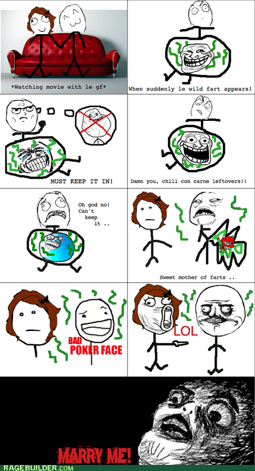 fart,me gusta guy,Rage Comics,raisin face,relationships