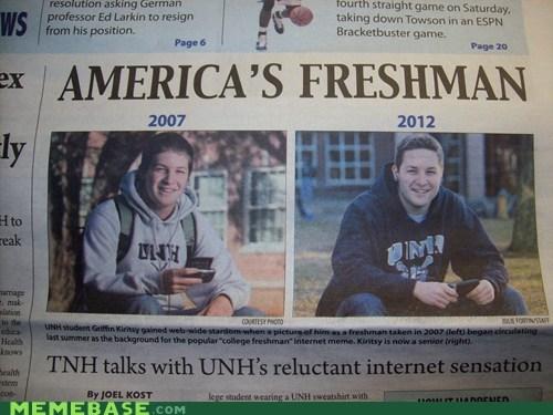 america freshman IRL newspaper uber frosh - 5873270784