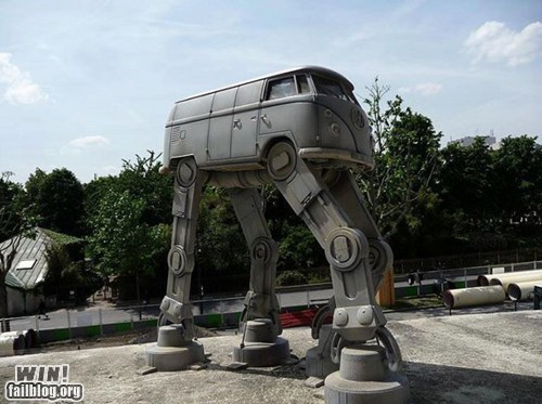 art,at at,g rated,nerdgasm,star wars,van,volkswagen,win