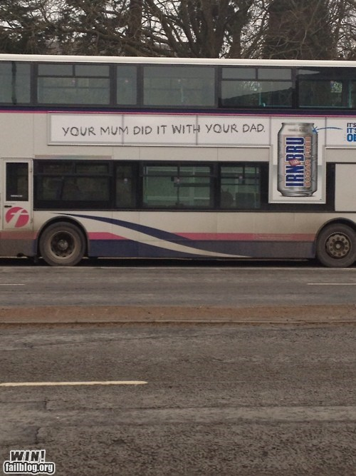 Ad beer bus hacked irl parents parents have sex too true facts