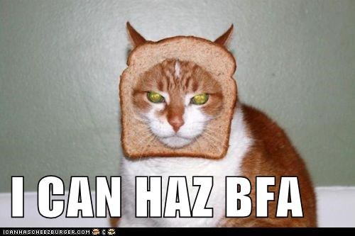 art artist bfa bread breading caption captioned cat degree i can has tabby - 5873565440