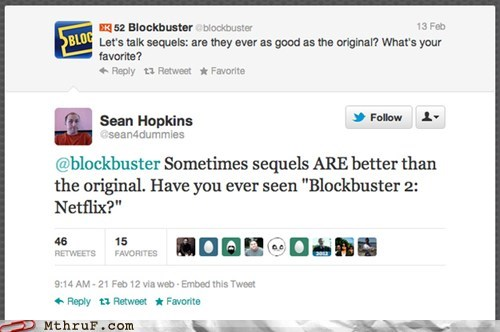 blockbuster,netflix,roasted,sequels