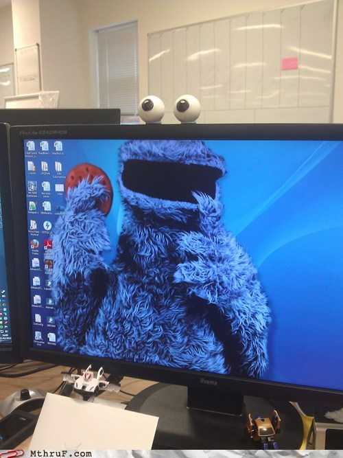 Cookie Monster g rated Hall of Fame monday thru friday monitor wallpaper - 5873644288