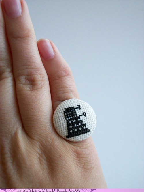 best of the week,cool accessories,dalek,doctor who,geek chic,ring of the day,rings